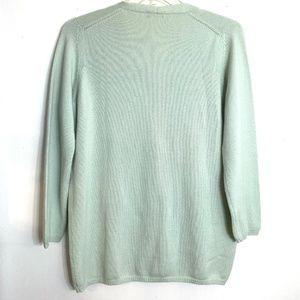 Nicchia Sweaters - Nicchia 100% Italian Cashmere Mint Green Cardigan